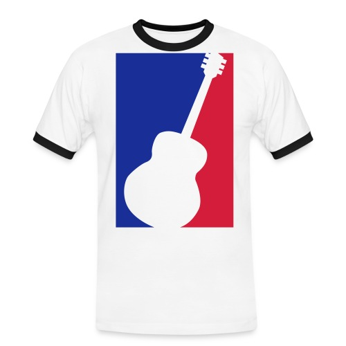 Gitarre (Baseball Style) - Männer Kontrast-T-Shirt
