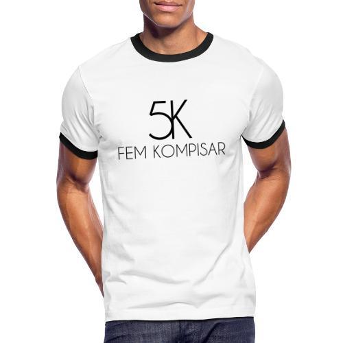 5K Svart - Kontrast-T-shirt herr
