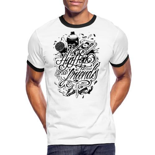 hhff - T-shirt contrasté Homme