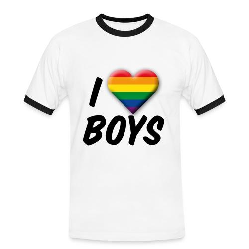 iloveboys - Männer Kontrast-T-Shirt