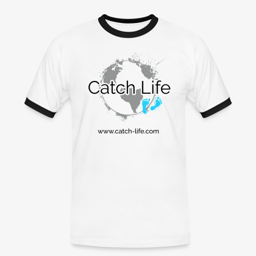 Catch Life Logo - Men's Ringer Shirt