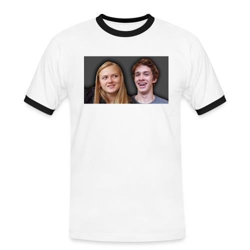 Profil billede beska ret - Herre kontrast-T-shirt