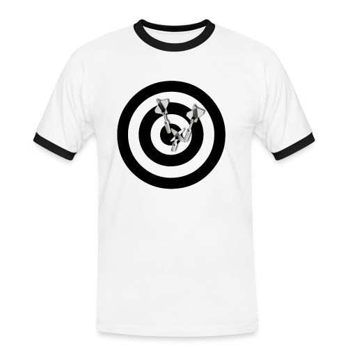 BULLS EYE DART - Herre kontrast-T-shirt
