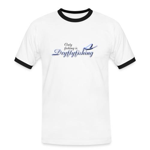 only_fishing_is_dryflyfishing - Miesten kontrastipaita