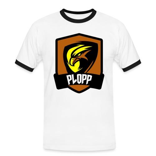 Plopp T-Shirt Emblem Vit - Kontrast-T-shirt herr