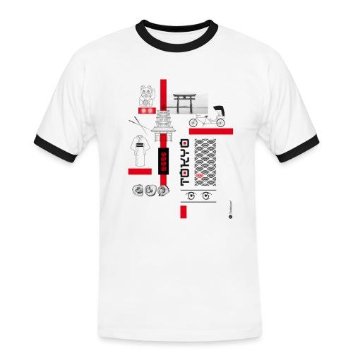 TOKYO - T-shirt contrasté Homme