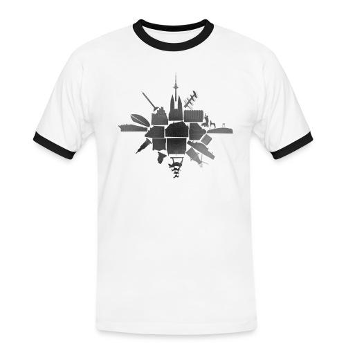 Bremen Cluster - Männer Kontrast-T-Shirt