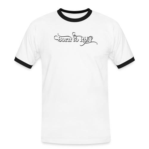 Born-to-RUN---Logo---White.png - Männer Kontrast-T-Shirt