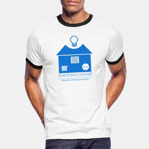 SmartHome yourself Logo Groß - Männer Kontrast-T-Shirt
