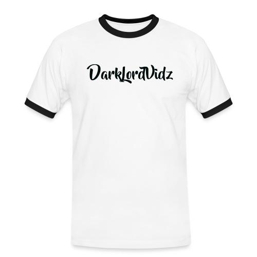 DarklordVidz Black Logo - Men's Ringer Shirt