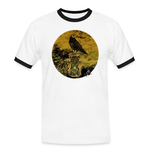 'Memento Mori', round w. logo by BlackenedMoonArts - Herre kontrast-T-shirt