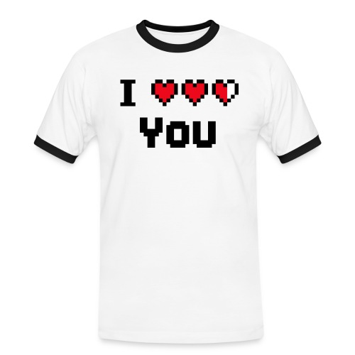 I pixelhearts you - Mannen contrastshirt