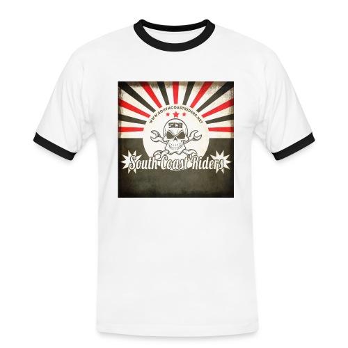 SCR Retro Sunburst Square - Men's Ringer Shirt