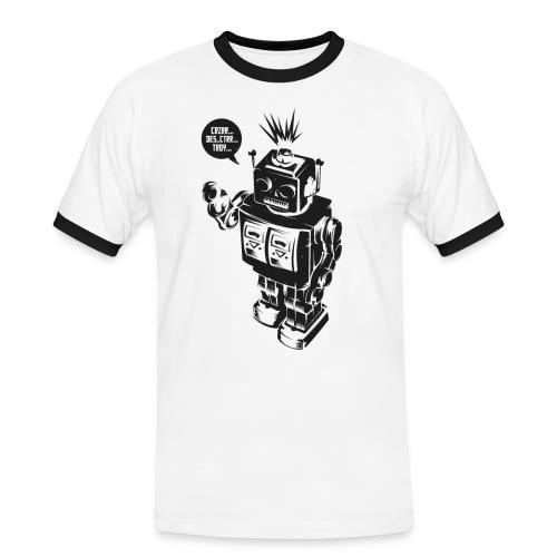 DESTROY ROBOT - Männer Kontrast-T-Shirt