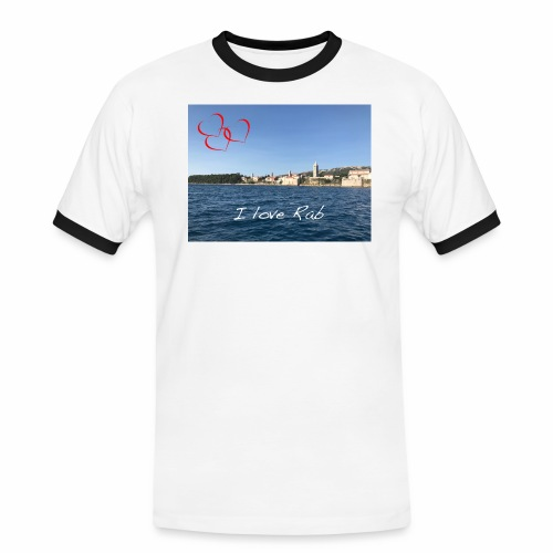 I love Rab - Männer Kontrast-T-Shirt