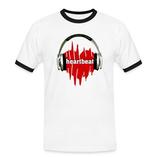 heartbeat 3 - Männer Kontrast-T-Shirt