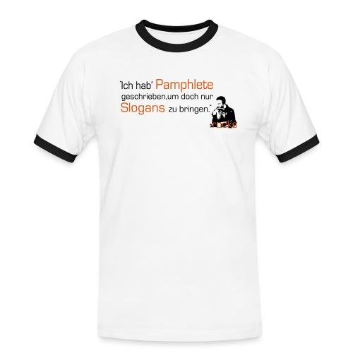 Kellerkind Pamphlete - Männer Kontrast-T-Shirt