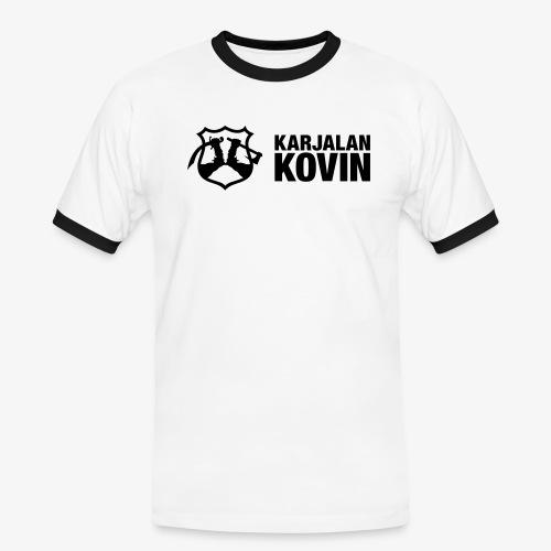 karjalan kovin logo vaaka musta - Miesten kontrastipaita