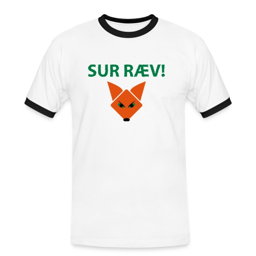 sur ræv - Herre kontrast-T-shirt