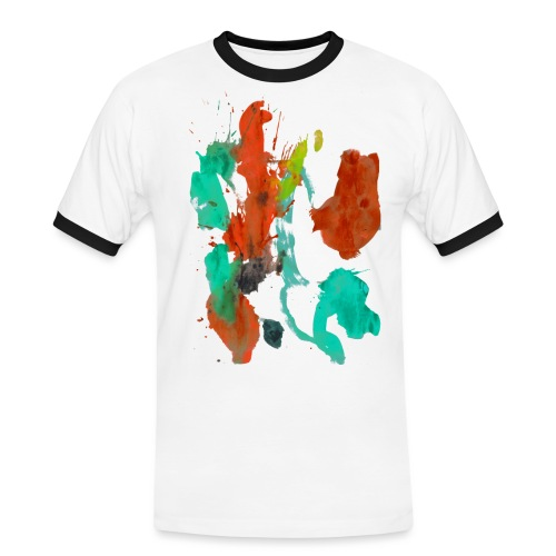 Ronjas Kleckserei - Männer Kontrast-T-Shirt