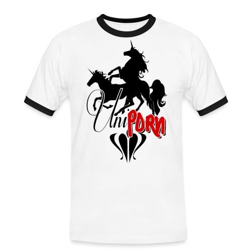 Uniporn - Männer Kontrast-T-Shirt
