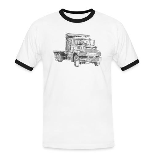 Flatbed Truck 3-axle - Men's Ringer Shirt