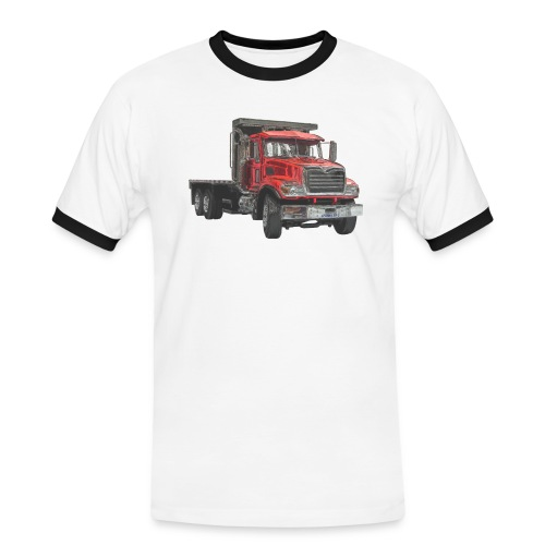 Flat Truck 3-axle - Red - Men's Ringer Shirt