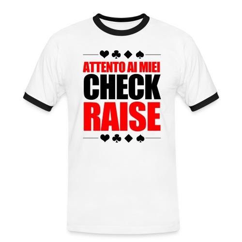 Check-Raise - Maglietta Contrast da uomo