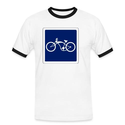 panneau - T-shirt contrasté Homme