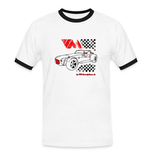 77 vm schwarz - Männer Kontrast-T-Shirt