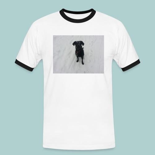 Kalines Gespür für Schnee - Männer Kontrast-T-Shirt