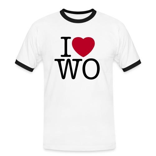 iloveworms reedit - Männer Kontrast-T-Shirt
