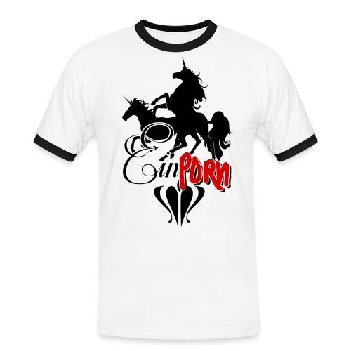 Einporn - Männer Kontrast-T-Shirt