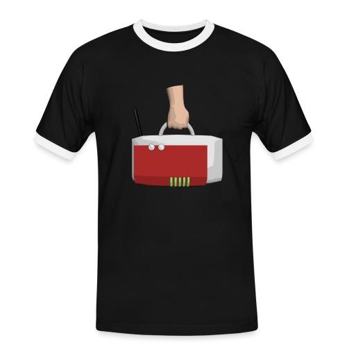 BoxToGo Logo 2300x2300 - Männer Kontrast-T-Shirt