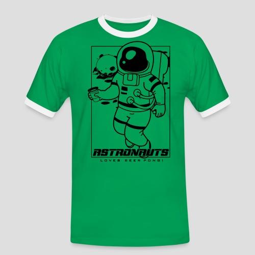 Astronauts loves Beerpong - Männer Kontrast-T-Shirt