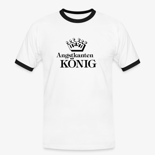 Angstkantenkönig - Männer Kontrast-T-Shirt