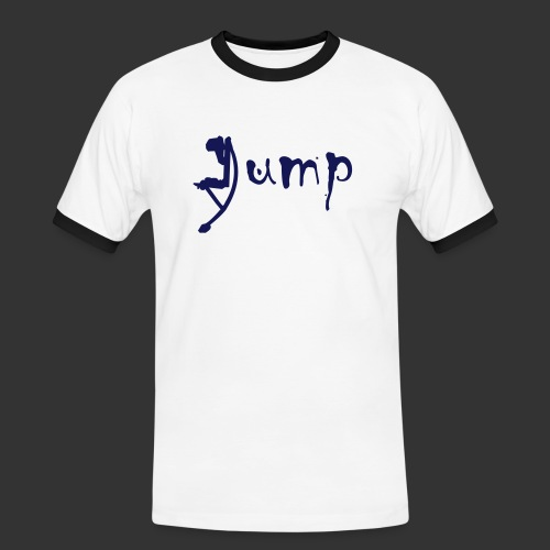 Jump - Männer Kontrast-T-Shirt