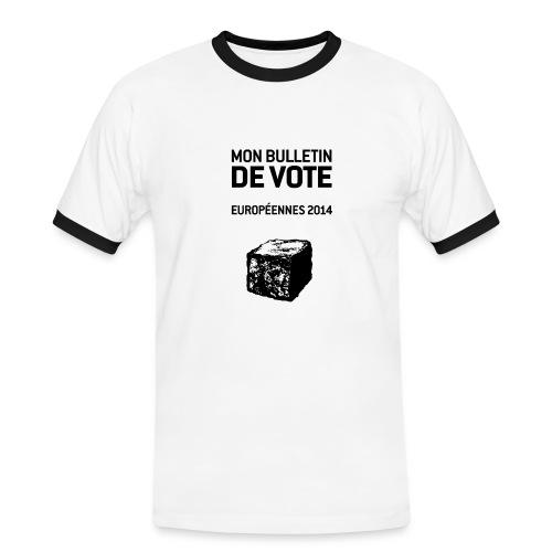 bulletin_europeene - T-shirt contrasté Homme