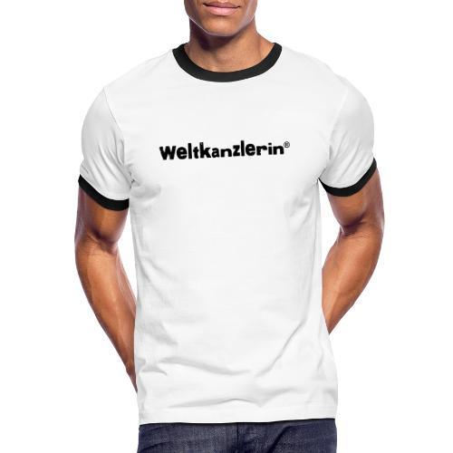 Weltkanzlerin® Frauen Premium T-Shirt - Männer Kontrast-T-Shirt