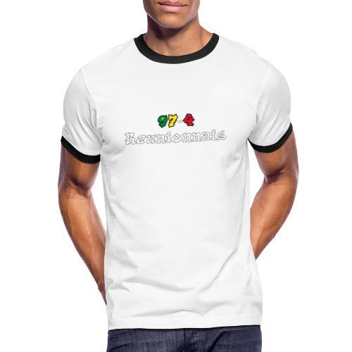 974 Réunionnais - T-shirt contrasté Homme