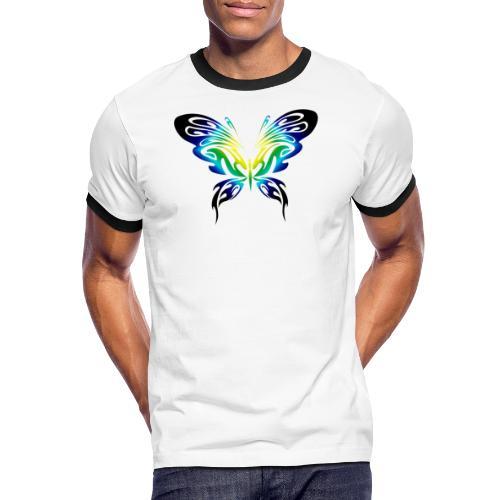 Motyl kolor - Koszulka męska z kontrastowymi wstawkami