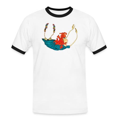 Frit fald - Herre kontrast-T-shirt