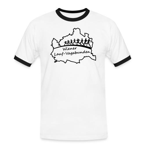 Laufvagabunden T Shirt - Männer Kontrast-T-Shirt