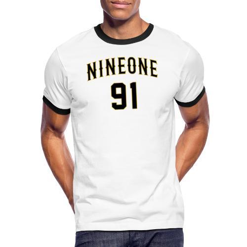 Nineone College Style 01 black - Männer Kontrast-T-Shirt