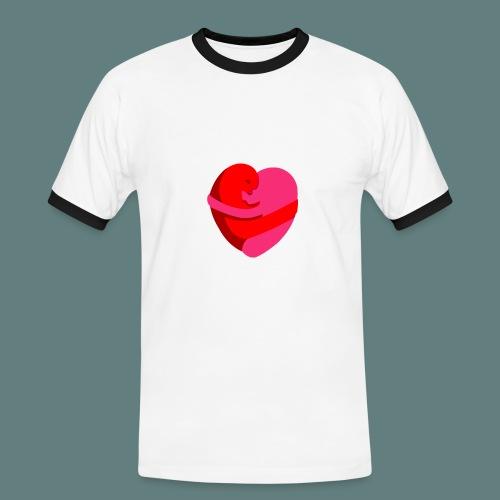 hearts hug - Maglietta Contrast da uomo
