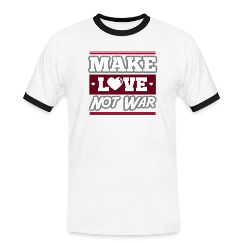 Make_love_not_war by Lattapon - Herre kontrast-T-shirt