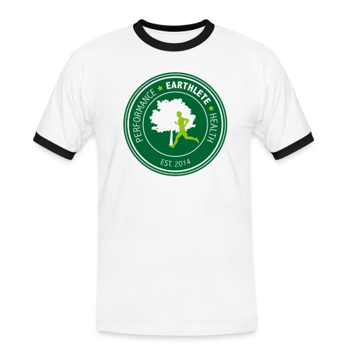 EARTHLETE Brand Logo - Herre kontrast-T-shirt