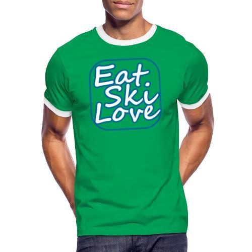eat ski love - Mannen contrastshirt