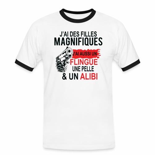 J'AI DEUX FILLES MAGNIFIQUES Best t-shirts 25% - T-shirt contrasté Homme