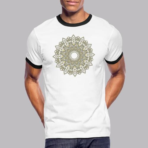 Mandala - Maglietta Contrast da uomo